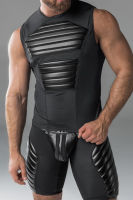 "Майка-безрукавка ""Armored - Men's Fetish Tank Top With Front Pads - Black"""