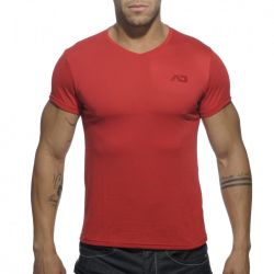 "Футболка ""Basic V-Neck T-Shirt - Red"""