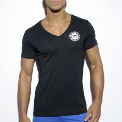 "Футболка ""Basic Fitness V-Neck T-Shirt - Black"""