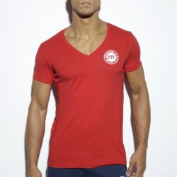 "Футболка ""Basic Fitness V-Neck T-Shirt - Red"""