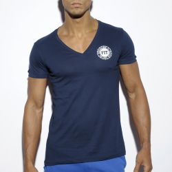 "Футболка ""Basic Fitness V-Neck T-Shirt - Navy"""