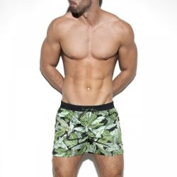 "Плавки-шорты ""Leaves Swim Boardshort - Black"""