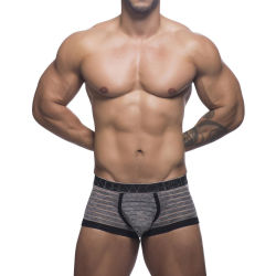"Трусы-боксеры ""Sheer Stripe Boxer - Black / Heather Stripe"""