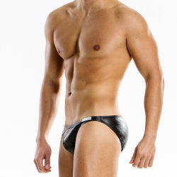 "Трусы - брифы ""Leather Brief - Black"""