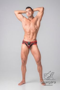 "Трусы-брифы ""Youngero Generation Y - Men's Fetish Briefs Zipped Rear - Red"""