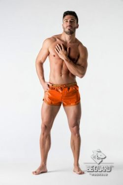 "Плавки-шорты ""BeGuard - Nylon Club Shorts with Foil Piping Details - Carrot"""