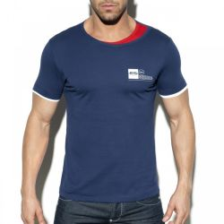 "Футболка ""Double Neck T-Shirt - Navy"""