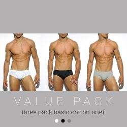 "Трусы-брифы ""Basic Cotton Briefs Three Pack"" (комплект 3 шт.)"