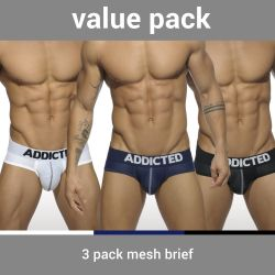 "Трусы-брифы ""Mesh Brief Push Up Three Pack"" (3 шт.)"