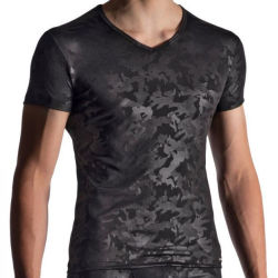 "Футболка ""M950 V-Neck Tee Low - Black"""